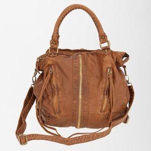 SILENCE + NOISE Zip Front Moto Shoulder Bag